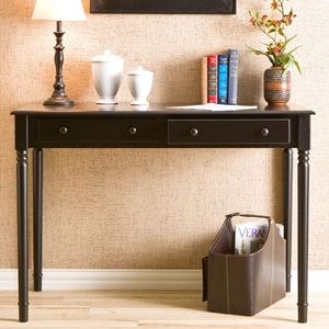 Black 2 Drawer Writing Desk