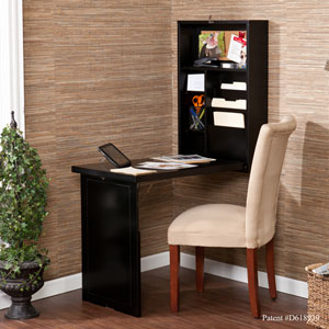 Black Fold Out Convertible Desk