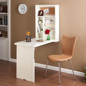 White Fold Out Convertible Desk