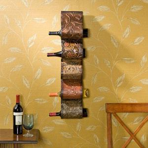 Florenz Multicolor Wall Mount Wine Rack Sculpture