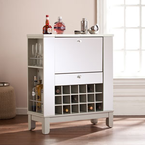 Mirage Mirrored Fold-Out Wine/Bar Cabinet