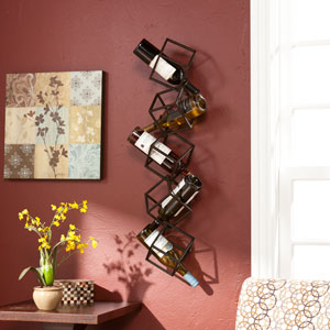 Marco Black Wall Mount Wine Storage Unit