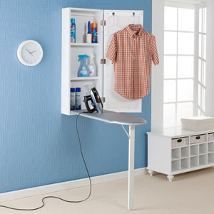 White Wall Mount Ironing Center