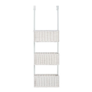 White Over-The-Door 3-Tier Basket Storage