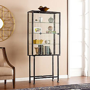 Metal/Glass Sliding-Door Display Cabinet