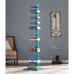 Spine Tower Shelf - Bright Cyan