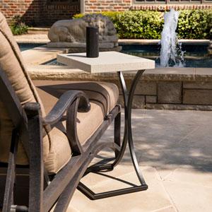 Ayden Indoor or Outdoor C Table - Cement Gray