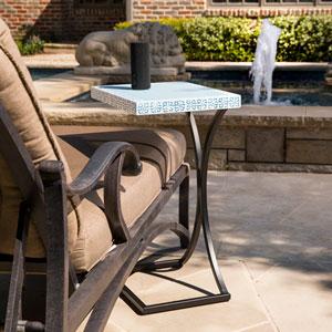 Ayden Indoor or Outdoor C Table - Blue