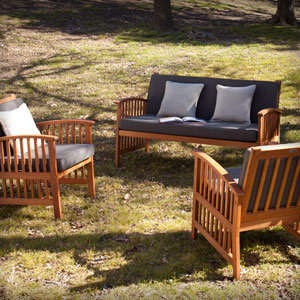 Catania Outdoor Deep Seating - 3pc Set