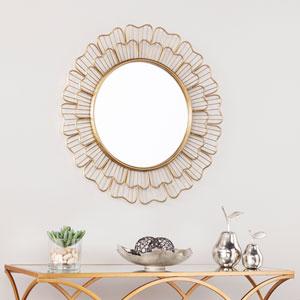 Pescara Oversized Round Wall Mirror - Antique Bronze