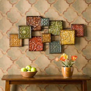 Multicolor Bijou Wall Sculpture