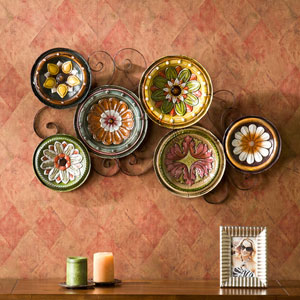 Multicolor Scattered Italian Plates Wall Art