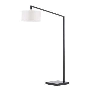 Stretch Matte Black One-Light Arc Lamp
