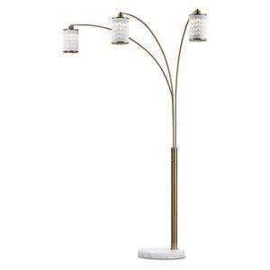 Flora Weathered Brass Three-Light Arc Lamp