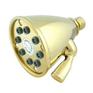 Hot Springs Polished Brass 8 Nozzle Power Jet Shower Head