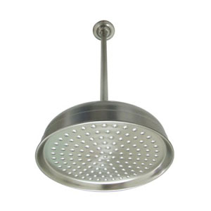 Satin Nickel 10-Inch Shower Head With 17-Inch Ceiling Support