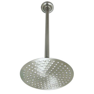 Satin Nickel 8-Inch Shower Head With 17-Inch Ceiling Support