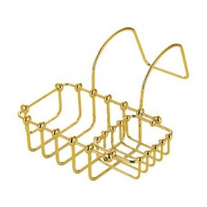 St. Louis Polished Brass 7-Inch Swivel Soap Basket