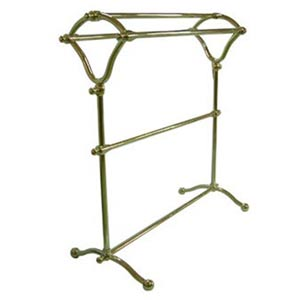 St. Louis Polished Brass Pedestal Y-Type Towel Rack
