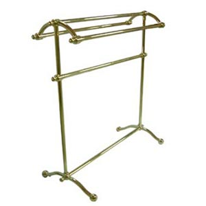 St. Louis Polished Brass Pedestal Towel Rack