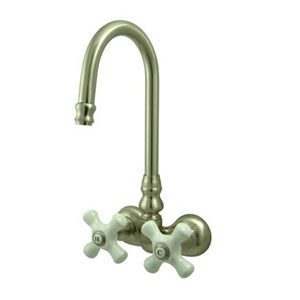 Hot Springs Satin Nickel Wall Mount Clawfoot Tub Filler