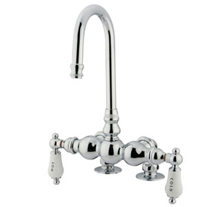 Hot Springs Polished Chrome Deck Mount Clawfoot Tub Filler