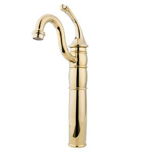 Polished Brass Georgian Lever Handle Vessel Sink Faucet