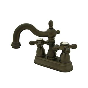 New Orleans Oil Rubbed Bronze Bathroom Faucet with Metal Crosses