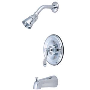 Nu-Day Chrome Single Handle Tub & Shower Faucet