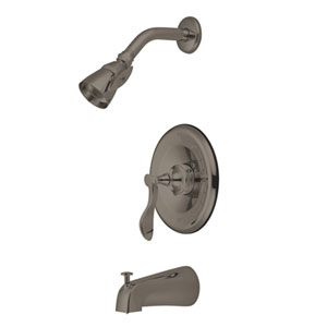 Marseille Satin Nickel Single Handle Pressure Balanced Tub & Shower Faucet