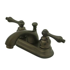 St. Regis Oil Rubbed Bronze Bathroom Faucet with Metal Levers