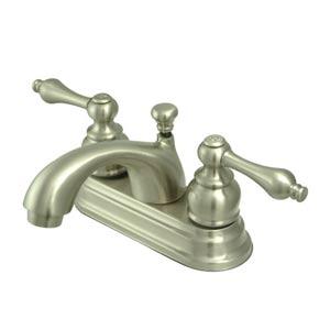 St. Regis Satin Nickel Bathroom Faucet with Metal Levers