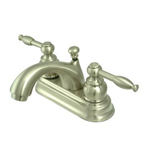 St. Regis Satin Nickel Bathroom Faucet with Knight Levers