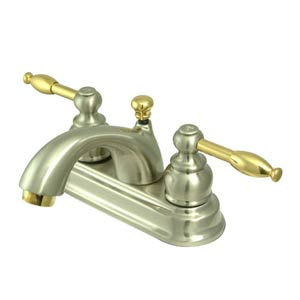St. Regis Nickel and Brass Bathroom Faucet with Knight Levers