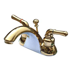 St. Charles Polished Brass Centerset Bathroom Faucet