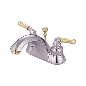 St. Charles Chrome and Polished Brass Centerset Bathroom Faucet