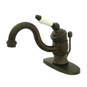 Oil Rubbed Bronze Small Porcelain Faucet