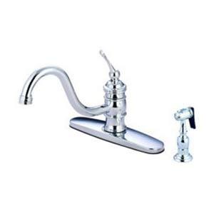 8-Inch Center Kitchen Faucet with Brass Sprayer