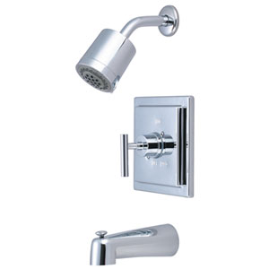 Sydney Polished Chrome Tub and Shower Faucet