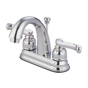 Atlanta Chrome Centerset Bathroom Faucet with High Spout