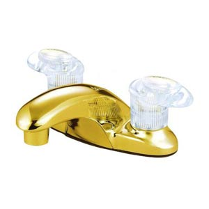 Daytona Polished Brass Centerset Bathroom Faucet without Pop-Up