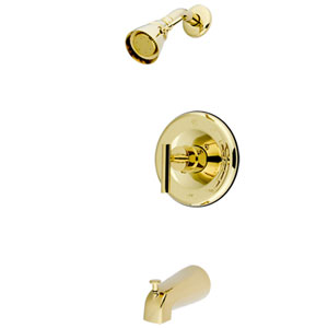 Yonkers Polished Brass Single Handle Shower Faucet