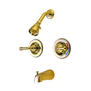 St. Charles Polished Brass Pressure Balanced Tub and Shower Faucet