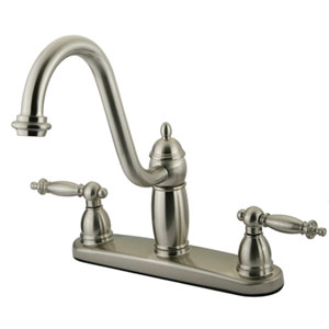 St. Paul Satin Nickel Double Handle 8-Inch Kitchen Faucet without Sprayer