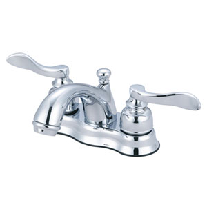 Paris Polished Chrome 4-in Centerset Double Handle Lavatory Faucet with Retail Pop-Up