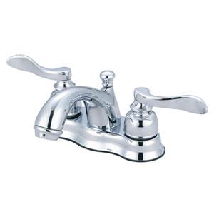 Paris Oil Rubbed Bronze 4-in Centerset Double Handle Lavatory Faucet with Retail Pop-Up