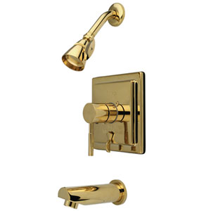 Tampa Polished Brass Single Handle Tub & Shower Faucet