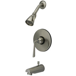 Syracuse Satin Nickel Single Handle Tub & Shower Faucet