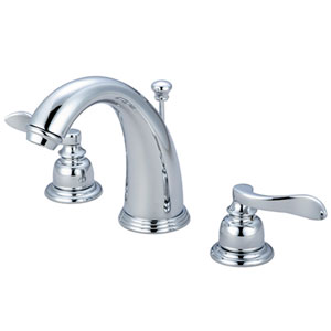 Nu-Day Chrome Two Handle 8-Inch to 16-Inch Widespread Lavatory Faucet with Brass Pop-up
