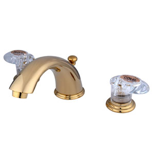Polished Brass American Legacy Lever Adjustable Spread Lavatory Faucet